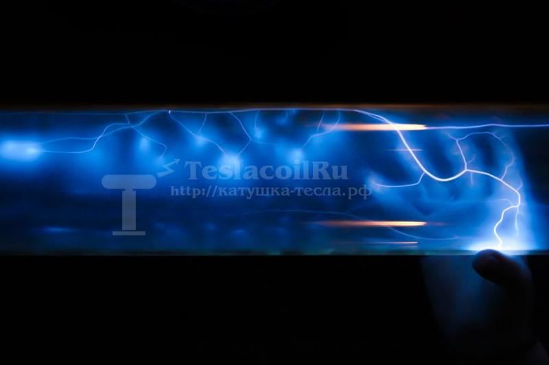 Плазменная труба синяя
