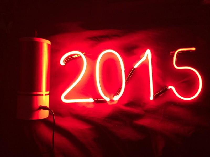 Неоновая надпись 2015