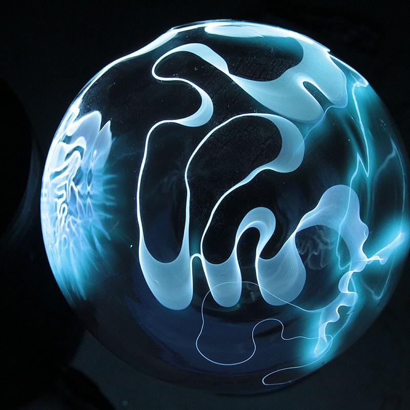 Плазменный шар ярко-бирюзовый