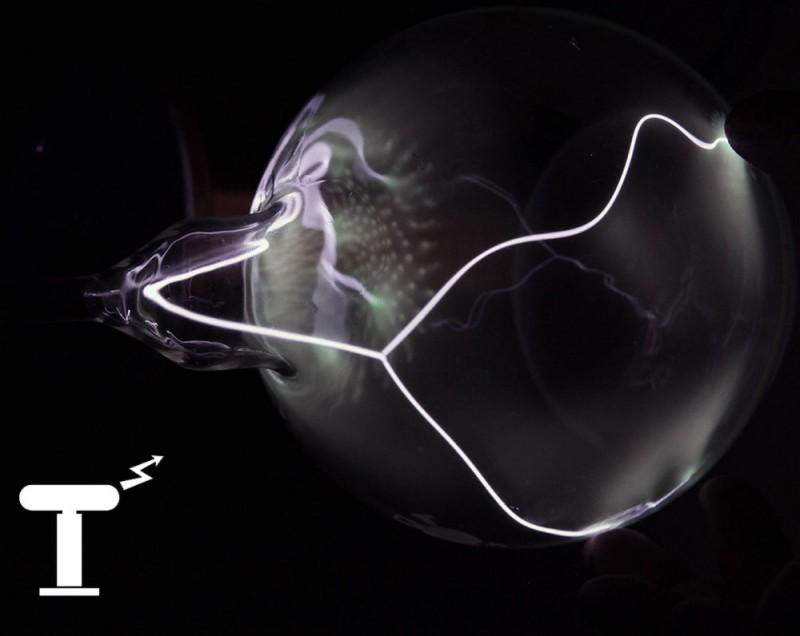 Белый плазменный шар